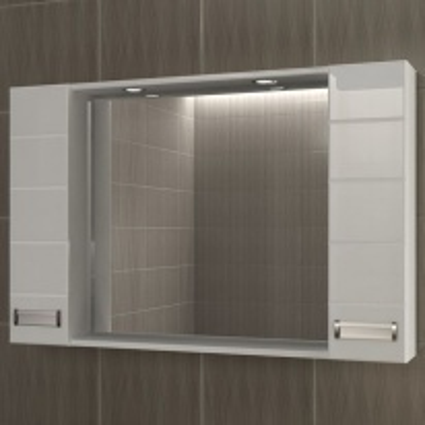 Зеркало-шкаф Vigo Vento 100, №18-1000, с подсветкой