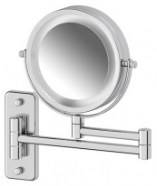 Зеркало Defesto Pro DEF 102 косметическое двустороннее x3 с подсветкой