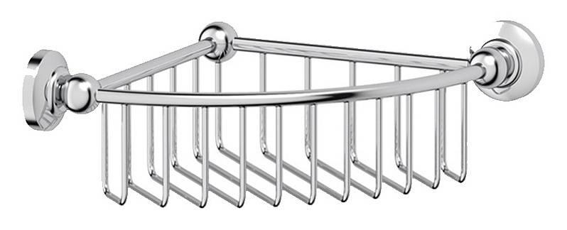 Полочка-решетка 3SC Stilmar STI 008 угловая 23 см, хром