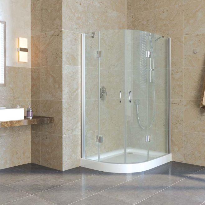 Душевой уголок Vegas Glass AFS-F lux 120*110 05, полукруглый, с подъемным механизмом, цвет профиля - бронза, 120*110*199,5 см