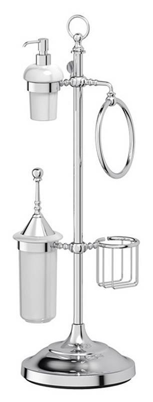 Стойка 3SC Stilmar UN STI 035 с 5-ю аксессуарами для туалета с биде 80 см, хром