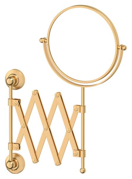 Зеркало 3SC Stilmar STI 320 косметическое двустороннее x2 , матовое золото