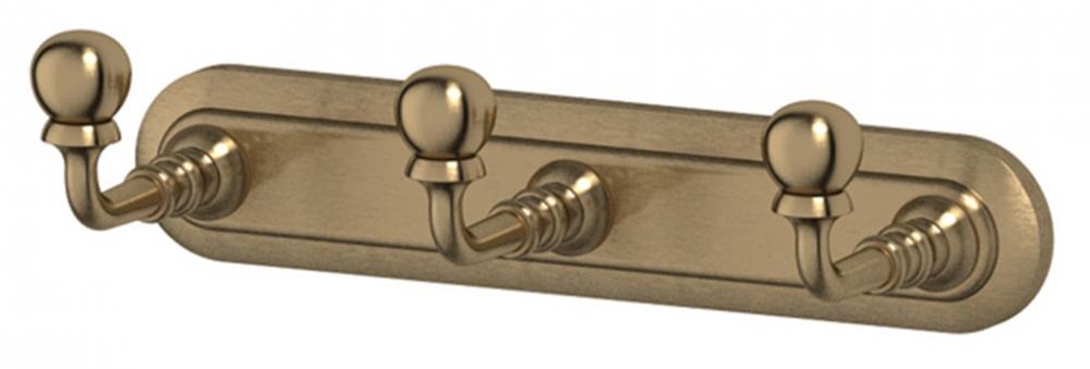 Планка 3 крючка 3SC Stilmar STI 502, античная бронза