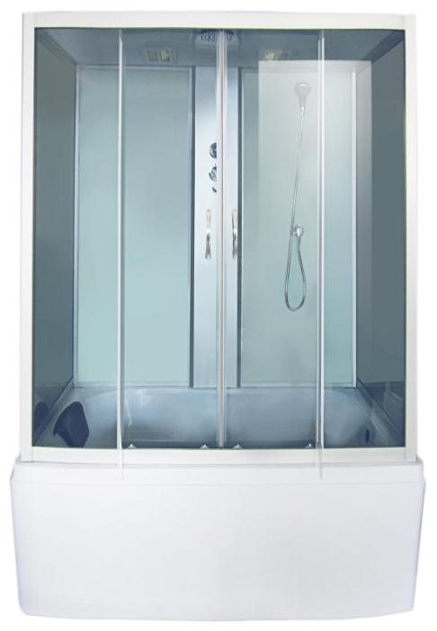 Душевая кабина Fiinn F412-MW 150x85 см передние стекла: матовые задние стекла: белые