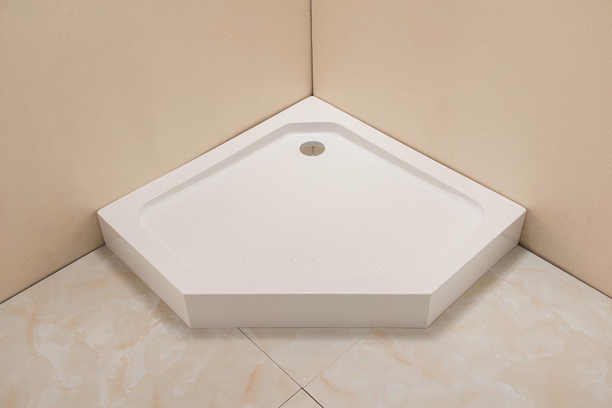 Поддон акриловый Grossman Pragma PR-100D, пятиугольный, 100 x 100 x 14 см