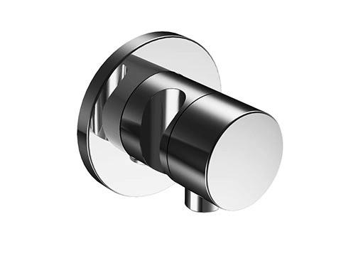 Наружная часть переключателя Keuco IXMO 59548 010201 на 3 потребителя, круглая, с выводом для шланга и держателем для лейки