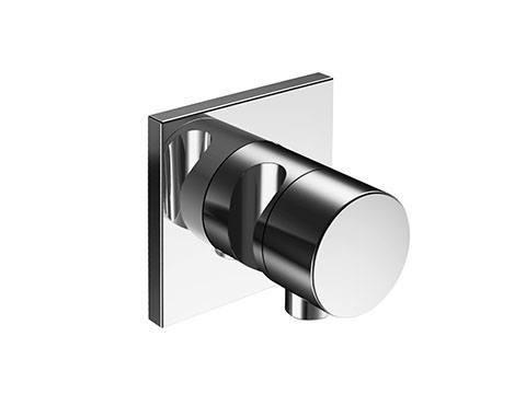Наружная часть переключателя Keuco IXMO 59548 010202 на 3 потребителя, квадратная, с выводом для шланга и держателем для лейки