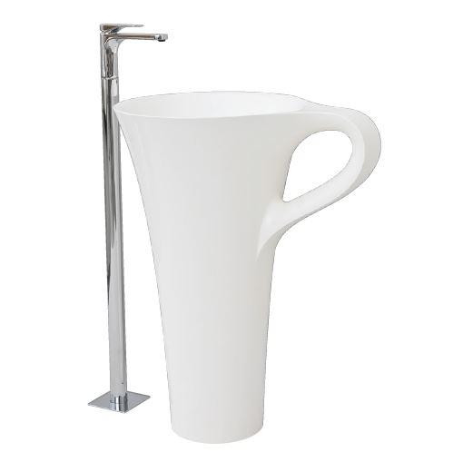 Раковина ArtCeram Cup OSL004 01; 00, напольная отдельностоящая, цвет - белый, 69 х 50 х 85 см