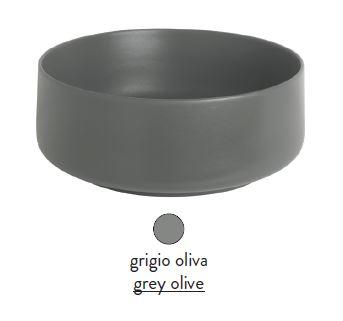Раковина ArtCeram Cognac Countertop COL001 15; 00, накладная, цвет - grigio olive (серая оливка), 42 х 42 х 16 см
