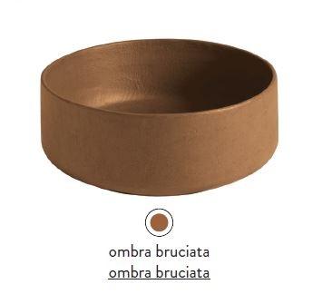 Раковина ArtCeram Cognac Countertop COL001 19; 00, накладная, цвет - ombra bruciata, 42 х 42 х 16 см