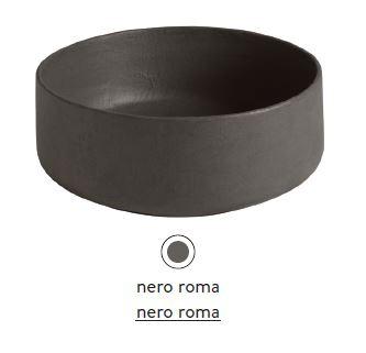 Раковина ArtCeram Cognac Countertop COL001 20; 00, накладная, цвет - nero roma, 42 х 42 х 16 см