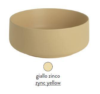 Раковина ArtCeram Cognac COL002 12; 00, накладная, цвет - giallo zinco (желтый цинк), 48 х 48 х 12,5 см