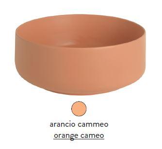 Раковина ArtCeram Cognac COL002 13; 00, накладная, цвет - arancio cammeo (оранжевый камео), 48 х 48 х 12,5 см