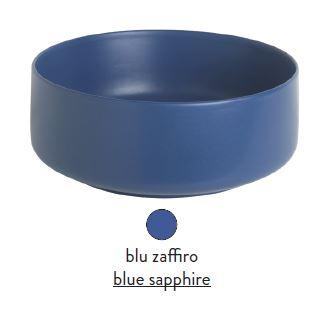 Раковина ArtCeram Cognac COL002 16; 00, накладная, цвет - blu zaffiro (синий сапфир), 48 х 48 х 12,5 см