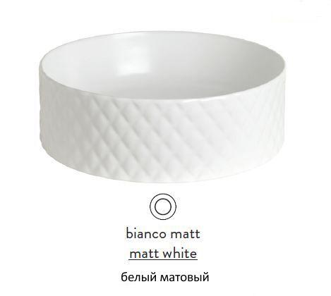 Раковина ArtCeram Rombo OSL009 05; 00, накладная, цвет - белый матовый, 44 х 44 х 14,5 см