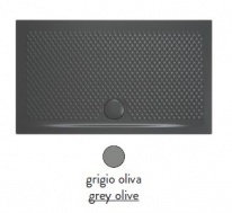 Поддон ArtCeram Texture 90 х 70 х 5,5 см, PDR017 15; 00, прямоугольный, цвет - grigio oliva (серый)