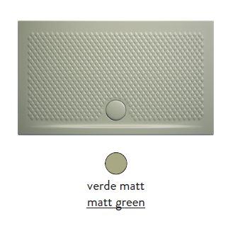 Поддон ArtCeram Texture 90 х 70 х 5,5 см, PDR017 26; 00, прямоугольный, цвет - verde matt (светло-зеленый)