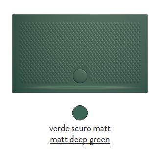 Поддон ArtCeram Texture 90 х 70 х 5,5 см, PDR017 30; 00, прямоугольный, цвет - verde scuro matt (темно-зеленый)