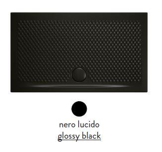 Поддон ArtCeram Texture 100 х 70 х 5,5 см, PDR018 03; 00, прямоугольный, цвет - черный глянцевый