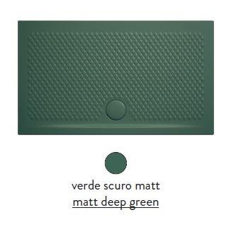Поддон ArtCeram Texture 100 х 70 х 5,5 см, PDR018 30; 00, прямоугольный, цвет - verde scuro matt (темно-зеленый)