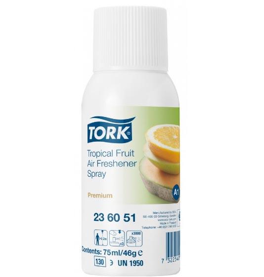 Освежитель воздуха Tork Premium 236051 A1 тропический, блок: 12 баллонов