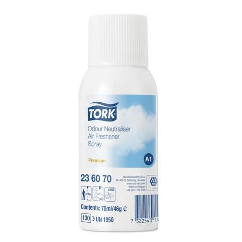 Освежитель воздуха Tork Premium 236070 A1 нейтрализатор запахов, блок: 12 баллонов