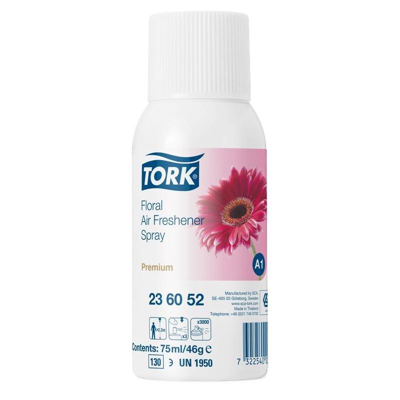 Освежитель воздуха Tork Premium 236070 A1 цветочный, блок: 12 баллонов