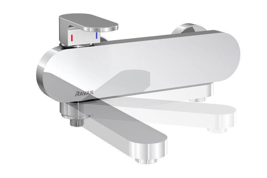 Смеситель для ванны Ravak Chrome CR 022.00/150 с поворотным изливом