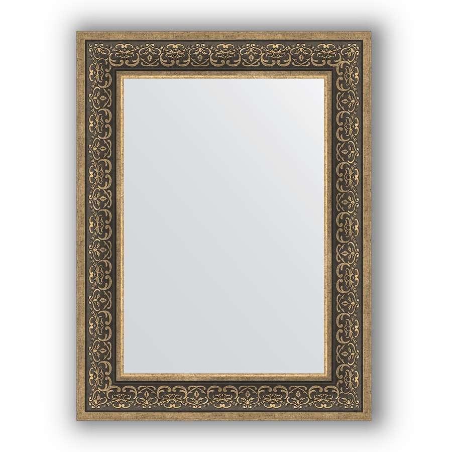 Зеркало в багетной раме Evoform Definite BY 3064 63 x 83 см, вензель серебряный
