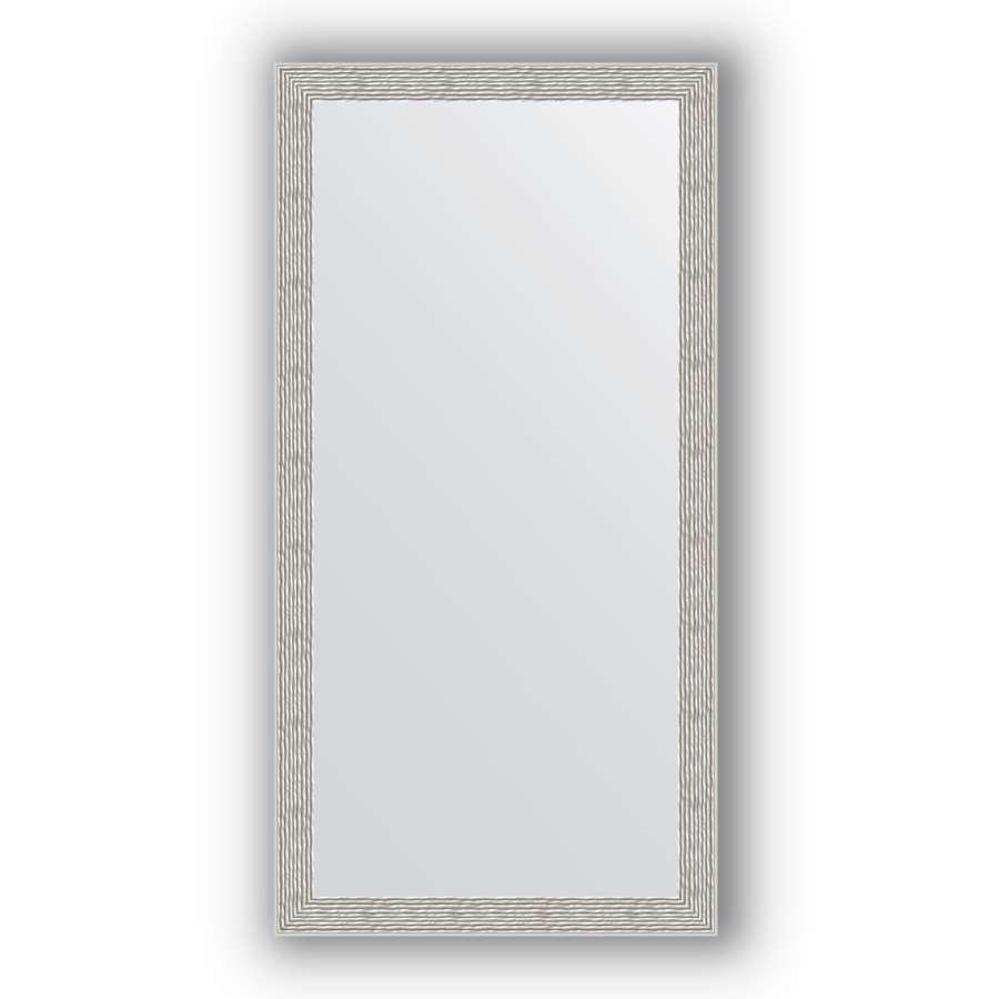 Зеркало в багетной раме Evoform Definite BY 3070 51 x 101 см, волна алюминий