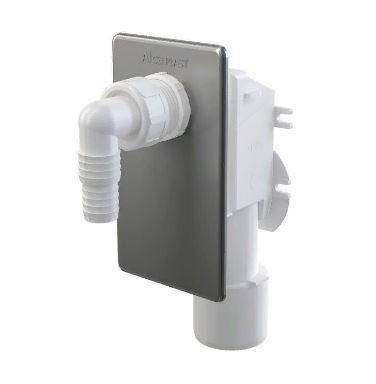 Сифон для стиральной машины Alcaplast APS3, под штукатурку, хромированный