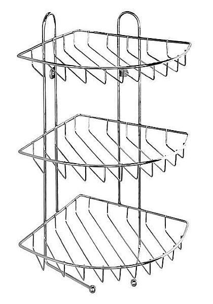Полка Milardo 110WC30M44 трехярусная угловая, с крючками