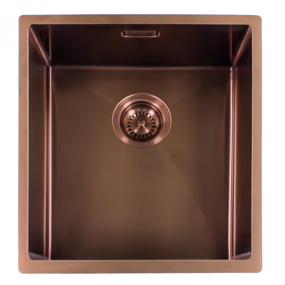 Мойка кухонная Reginox Miami 40 x 40 см Cooper 3,5 R30738 PVD сталь