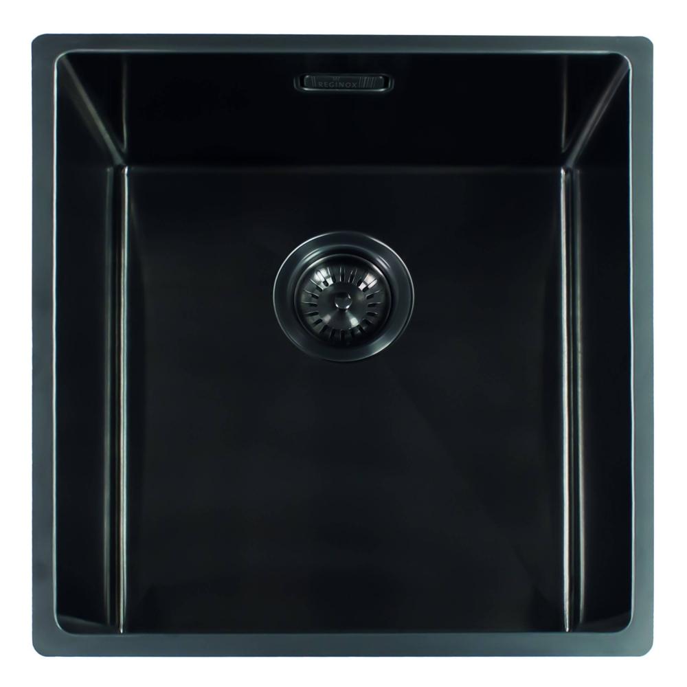 Мойка кухонная Reginox Miami 40 x 40 см Gun Metal 3,5 R30691 PVD сталь