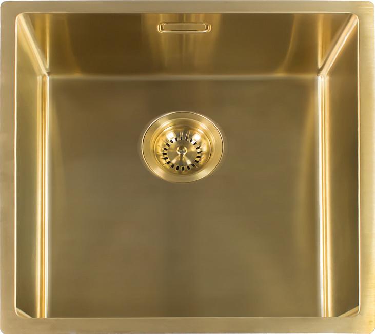Мойка кухонная Reginox Miami 50 x 40 см Gold 3,5 R30745 PVD сталь