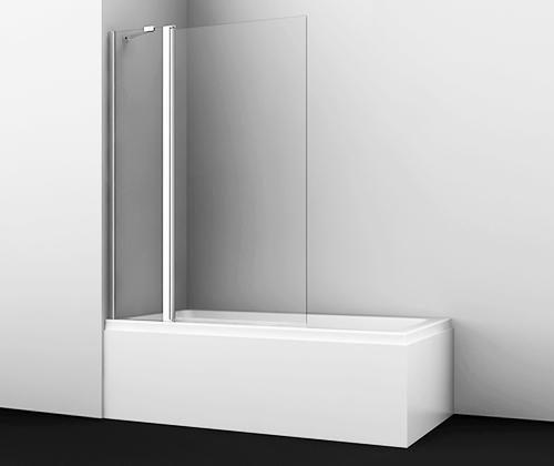 Стеклянная шторка WasserKraft Berkel 48P02-110 для душа, распашная, двустворчатая