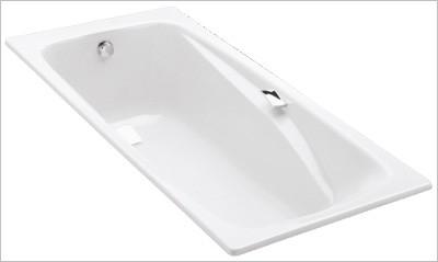 Ванна чугунная Jacob Delafon Repos E2903-00, 180*85 см, с отверстиями для ручек