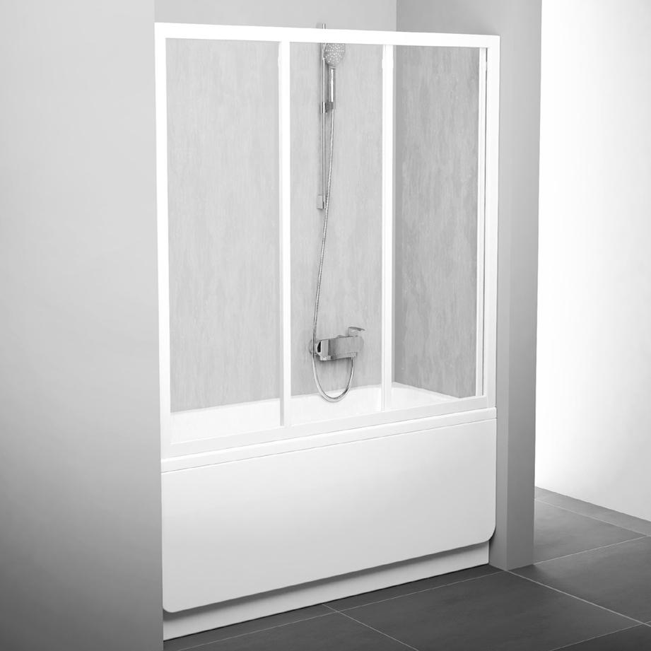 Шторка для ванн Ravak AVDP3-170 алюминевый профиль, пластик Rain
