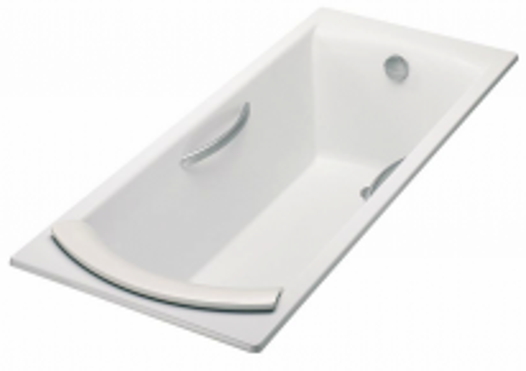 Ванна чугунная Jacob Delafon Biove E2938-00, 170*75 см, с отверстиями для ручек