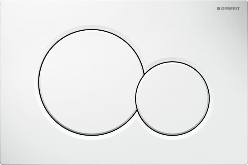 Клавиша Geberit Sigma 01 115.770.11.5, пластик, белая, 246*164 мм
