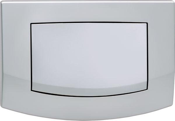 Панель Tece Ambia 9 240 125 с одной клавишей смыва матовый хром
