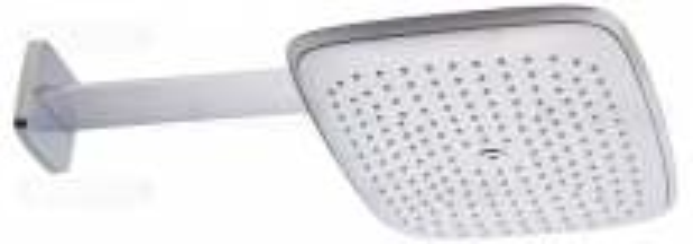 Верхний душ Hansgrohe PuraVida 400 мм 27437400, белый/хром, 39*26 см, держатель 38,7 см