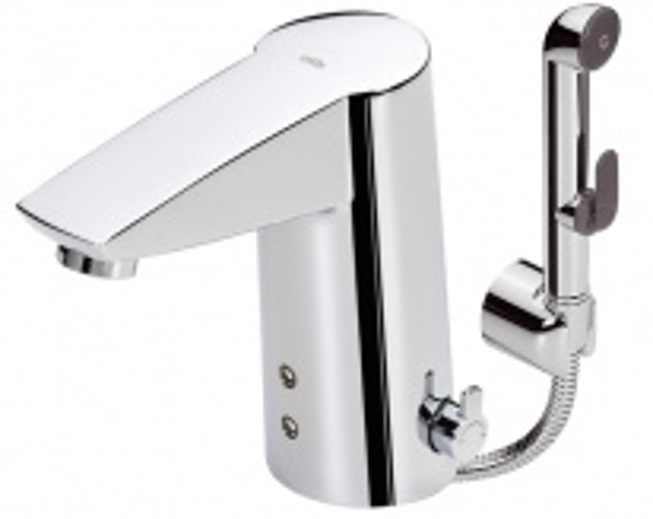 Смеситель Oras Cubista 2816F для раковины электронный с гигиеническим душем