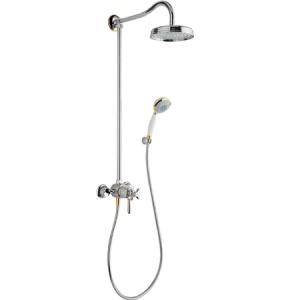 Душевая система Axor Carlton Showerpipe 17670090 хром/золото