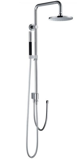 Душевая система Jacob Delafon Eo E11715-CP, хром, с круглым верхним душем, ø 200 мм
