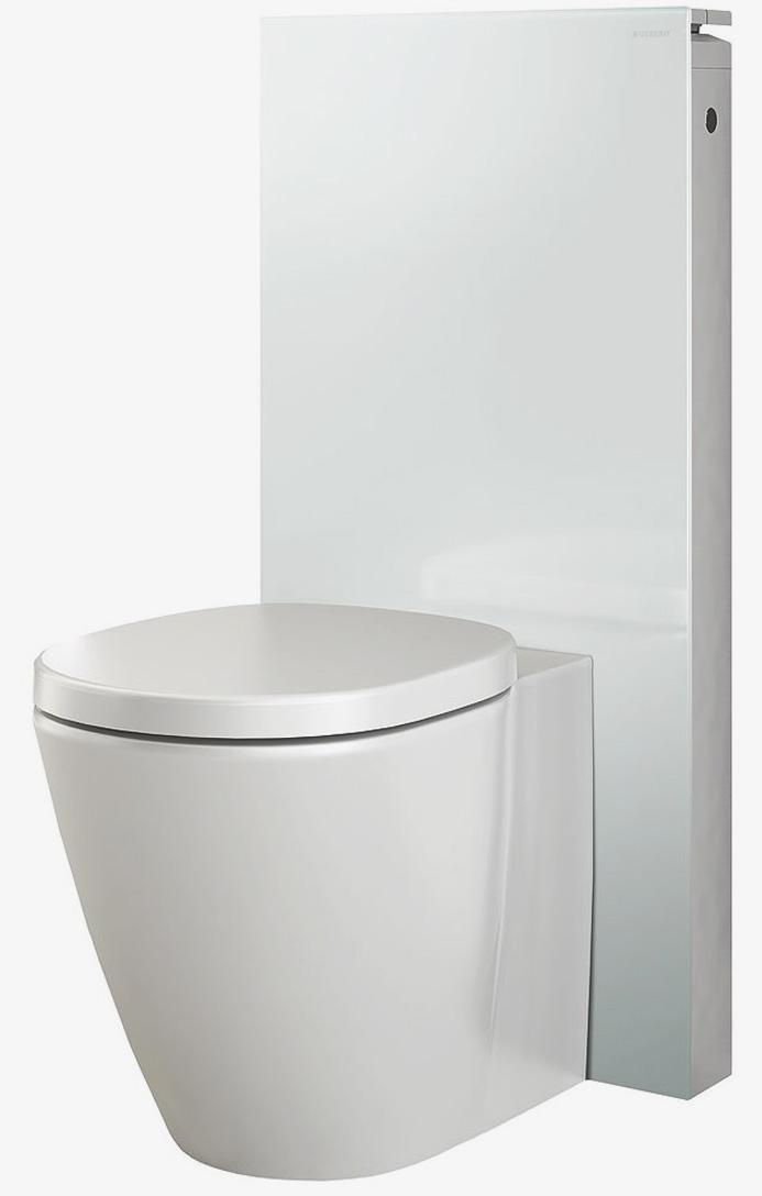 Сантехнический модуль Geberit Monolith Premium 131.004.SI.1 для напольного унитаза, белый