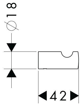 Крючок Hansgrohe Logis 40511