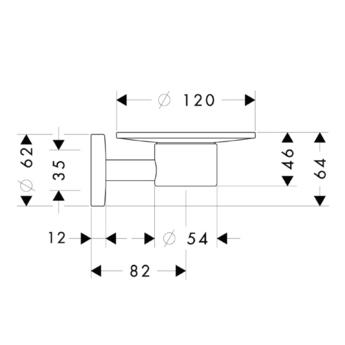 Мыльница Hansgrohe Logis 40515