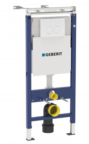 Инсталляция Geberit Duofix Delta Платтенбау UP100 458.122.11.1 для унитаза с кнопкой смыва, белая