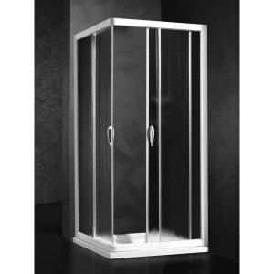 Душевая шторка Relax Rio 0124112100 SX 90*90 см левая, стекло прозрачное